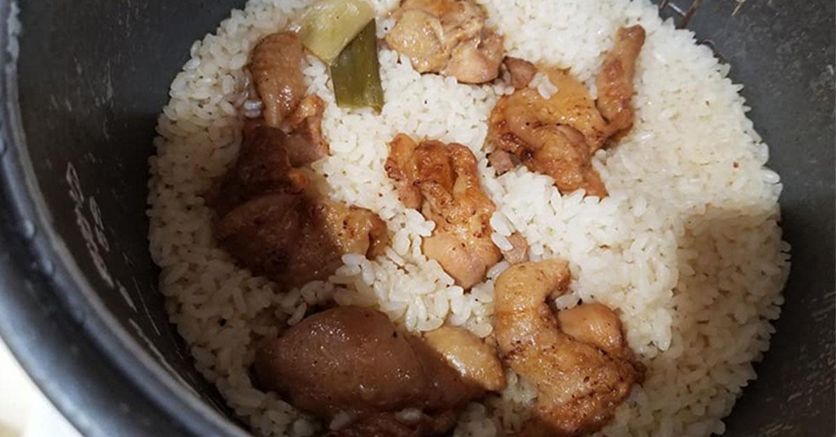 焼き鳥炊き込みご飯・作り方