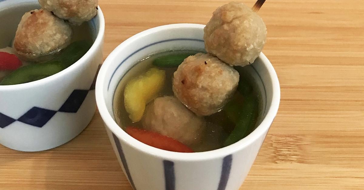 焼き鳥つくねのアレンジレシピ・おだしで食べるつくねスープ
