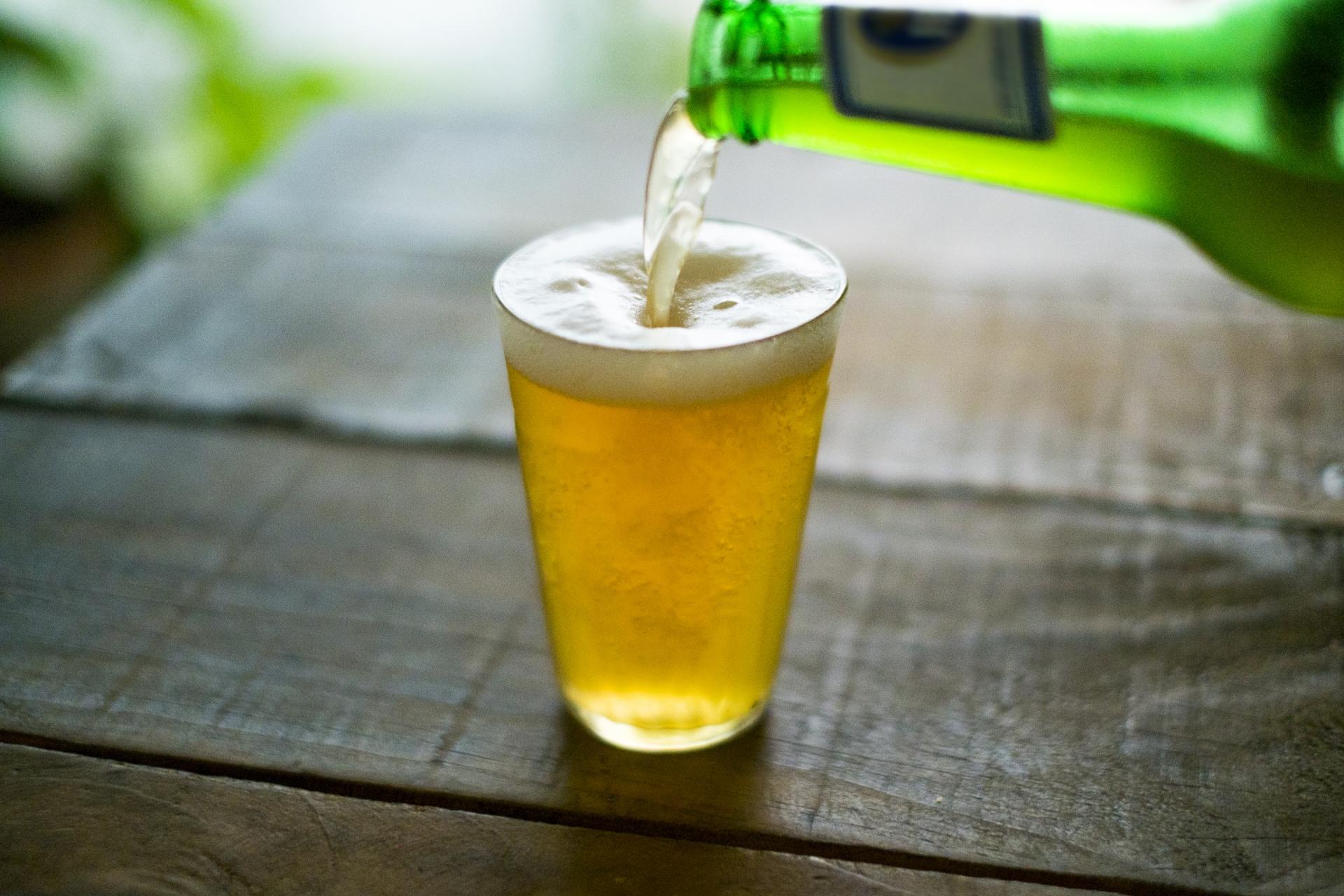 夏の小麦のビール