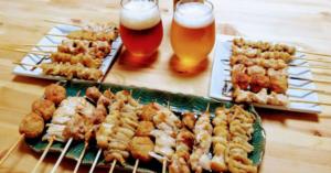 おうちでいただく焼き鳥とビール
