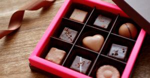 バレンタインの贈り物チョコレート