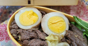 焼き鳥のタレでほったらかし煮卵