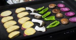 ホットプレートで焼く野菜